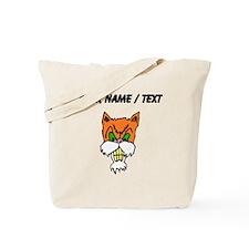 Custom Angry Cat Tote Bag