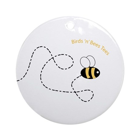 2nd Bee Flying Fancy Ornament (Round)