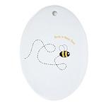 2nd Bee Flying Fancy Oval Ornament