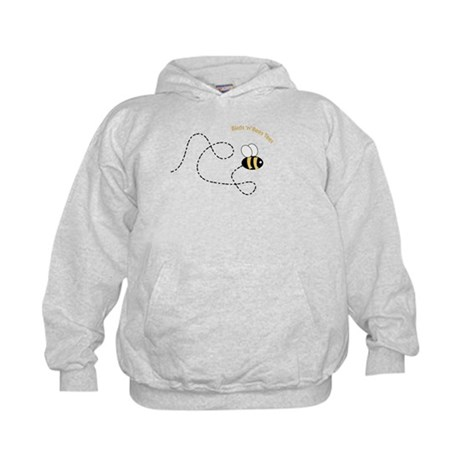 2nd Bee Flying Fancy Kids Hoodie
