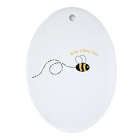 2nd Bee Loop Oval Ornament