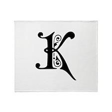 K-pre black Throw Blanket