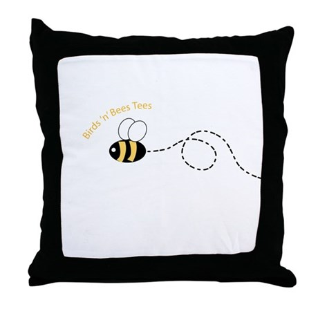 1st Bee Loop Throw Pillow