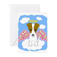 Cute Jack russel terriers Greeting Card