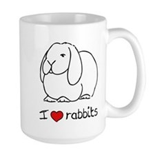I Love Rabbits Mug