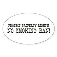 No Smoking Ban Oval Decal