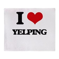 I love Yelping Throw Blanket