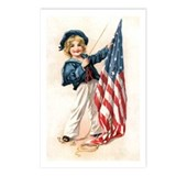 Patriotic Sailor Girl Postcards (Package of 8)
