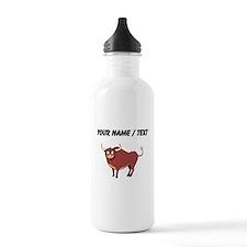 Custom Crosseyed Bull Water Bottle