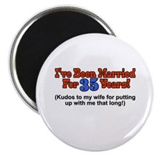 Cool 35th wedding anniversary Magnet