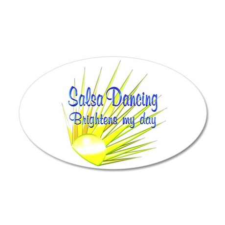Salsa Brightens 35x21 Oval Wall Decal