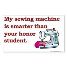Sewing Machine/Honor Student Rectangle Stickers