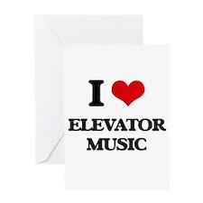 elevator music Greeting Cards