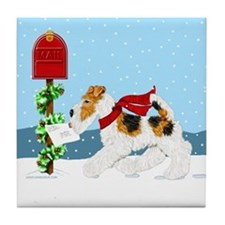 Christmas Wire Mail Tile Coaster
