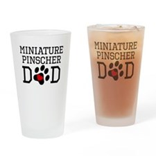 Miniature Pinscher Dad Drinking Glass