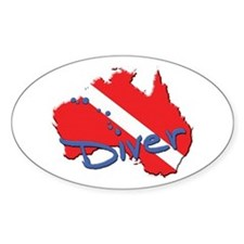 Dive Australia Oval Decal