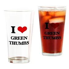 green thumbs Drinking Glass