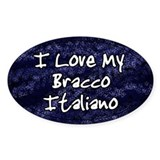 Funky Love Bracco Italiano Oval Decal
