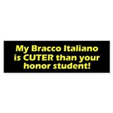 Cuter Bracco Italiano Bumper Car Sticker