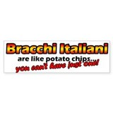 Potato Chips Bracco Italiano Bumper Car Sticker