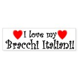 I Love My Bracchi Italiani Bumper Car Sticker