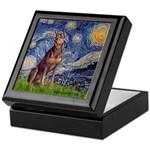 Starry / Red Doberman Keepsake Box