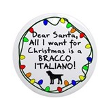 Dear Santa Bracco Italiano Christmas Ornament