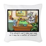 Greatest Feline Lawyer: Fluffy Woven Throw Pillow