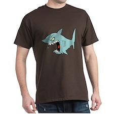 Angry Blue Shark T-Shirt