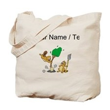 Custom Beavers Planting Tree Tote Bag