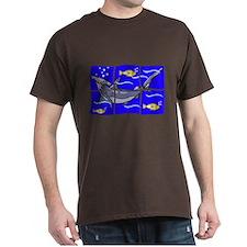 Mosaic Hammerhead shark design T-Shirt