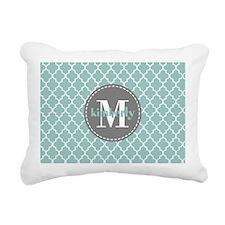 Charcoal and Mint Quatre Rectangular Canvas Pillow