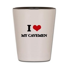my cavemen Shot Glass