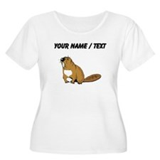 Custom Brown Beaver Plus Size T-Shirt
