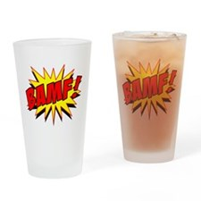 Bamf! Drinking Glass