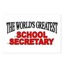 """The World's Greatest School Secretary"" Postcards"