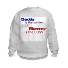 Cute Army baby for daddy Sweatshirt