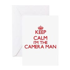 Keep calm I'm the Camera Man Greeting Cards