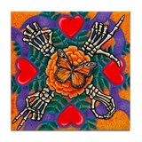 Mariposa de Amor Tile Coaster