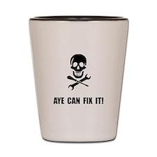 Pirate Fix It Skull Shot Glass