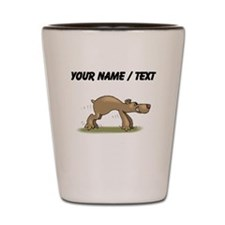 Custom Bear Tiptoeing Shot Glass