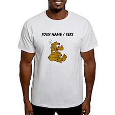 Custom Bear On Phone T-Shirt