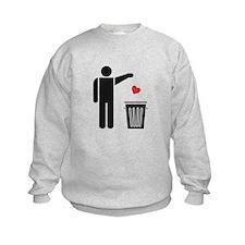 Throw Away Your Valentine's Day Heart Sweatshirt