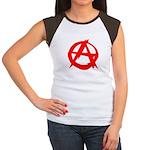 Anarchy-Red Women's Cap Sleeve T-Shirt
