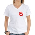 Anarchy-Red Women's V-Neck T-Shirt