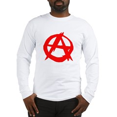 Anarchy-Red Long Sleeve T-Shirt