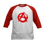 Anarchy-Red Kids Baseball Jersey