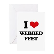 webbed feet Greeting Cards