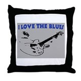 I LOVE THE BLUES Throw Pillow
