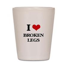 broken legs Shot Glass